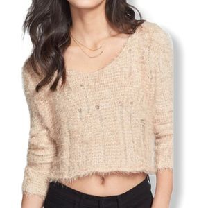 BP Eyelash Crop Top Lightweight Sweater
